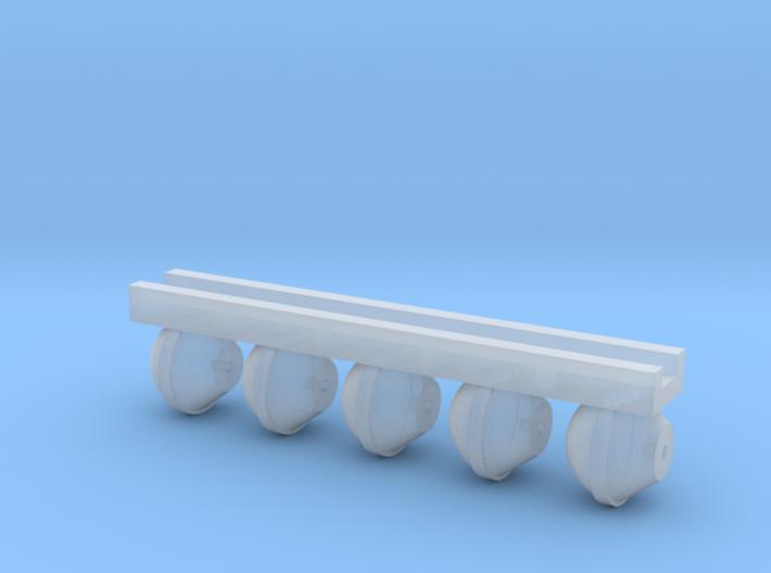 Vacuum Brake (x5) for HOn3/30 stock 3d printed