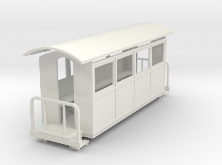 009 small closed coach twin balcony(long) 3d printed