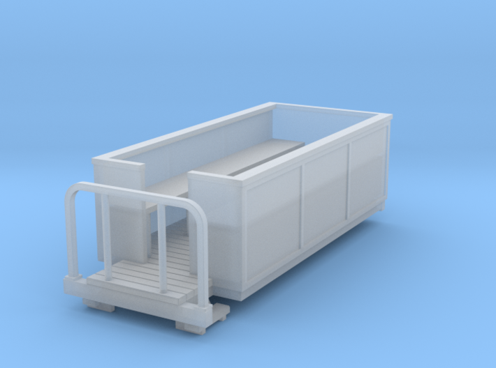 OO9 Small open coach 3d printed