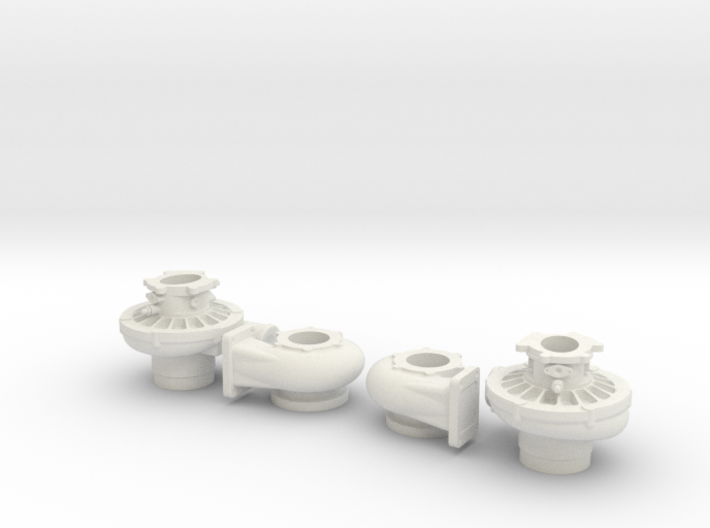 1/8 Scale 4 1/2 Inch Right And Left Turbo 3d printed