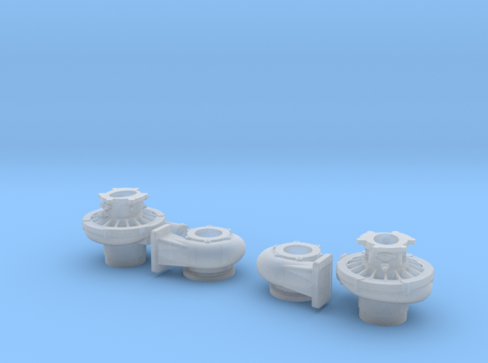 1/8 Scale 2 Inch Right And Left Turbo 3d printed