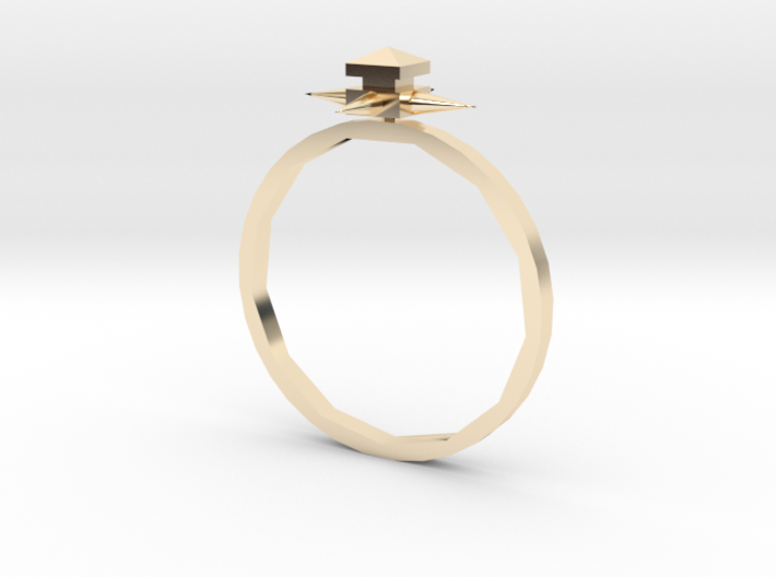 Temple Ring - Sz. 6 3d printed