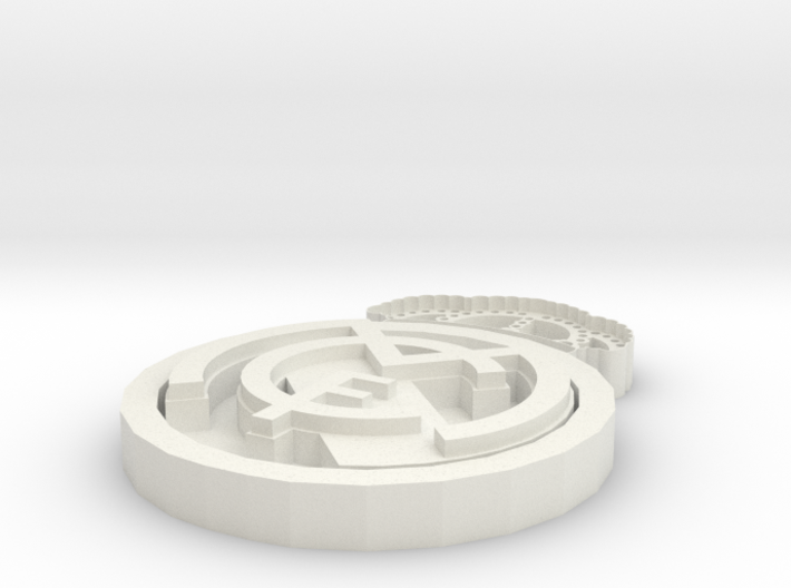 Real Madrid football club crest. 3d printed