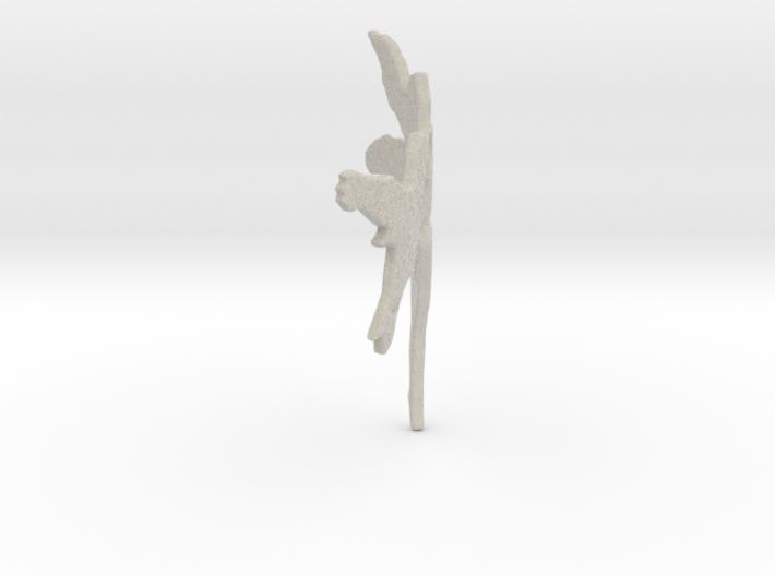Fairy Thumbnail Applique Sandstone 3d printed
