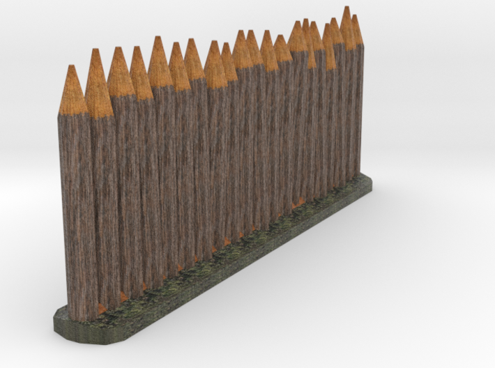 Wooden stake color testing 3d printed