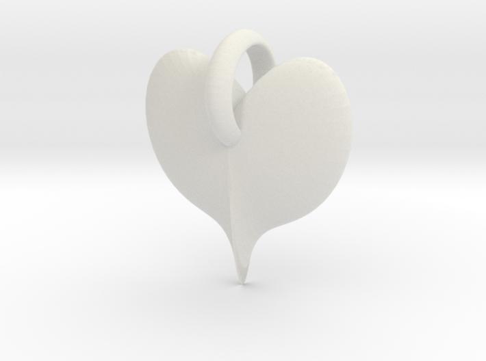 ringedheartCharm 3d printed