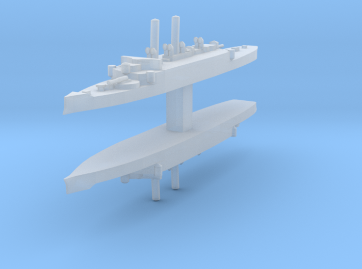 USS Atlanta (1884) 1:4800 x2 3d printed