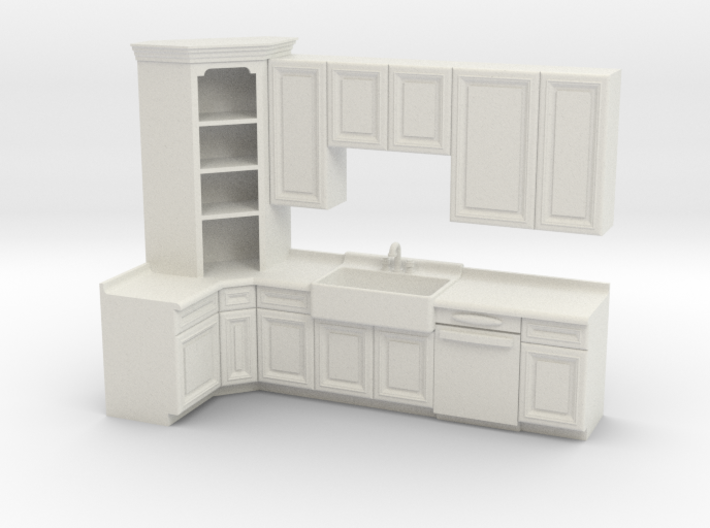 1:48 Farmhouse Kitchen A 3d printed