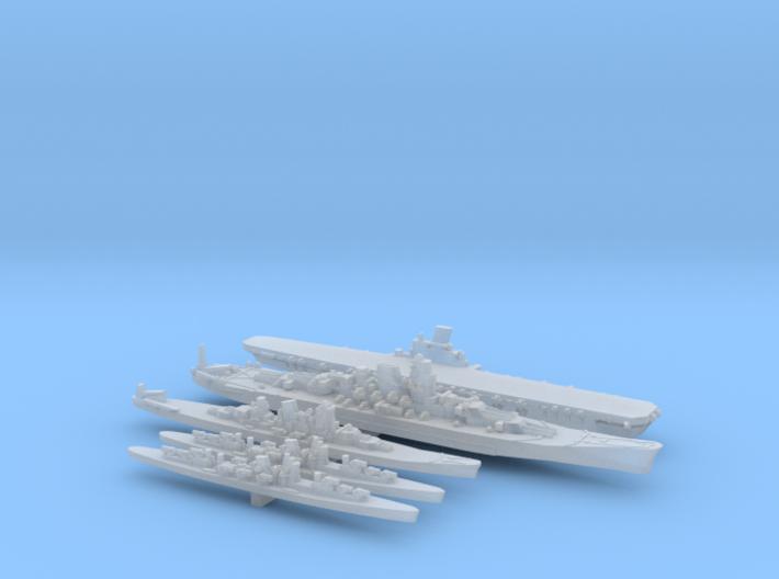 1/4800 Scale IJN Never were fleet 3d printed