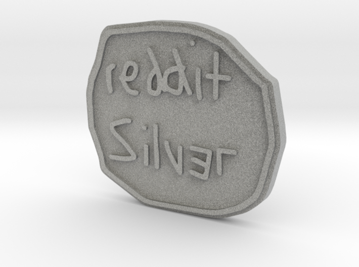 Reddit Silver Coin 3d printed