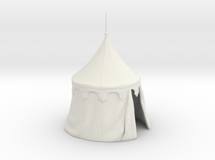 Medieval round tent for 25mm miniatures 3d printed