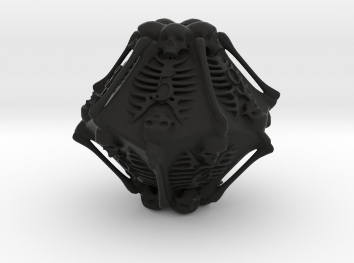 Skeleton D10 ( 10-sided die ) 3d printed