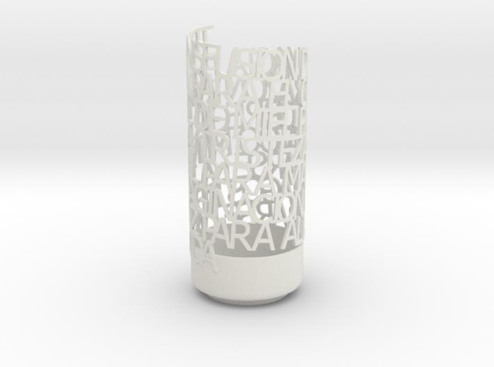 Light Poem camila 3d printed