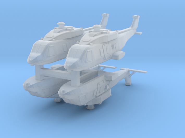 Eurocopter NH90 1:600 x4 (FUD) 3d printed