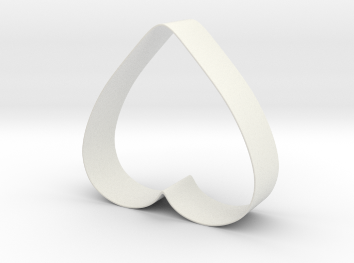 Cookie Cutter - Heart Shaped (rounded & open) 3d printed