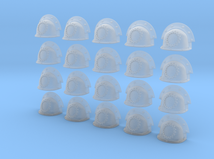20 Heroic/TrueScale Custom Shoulder Pad Gear 3d printed