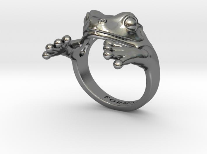 Frog Hug Ring 3d printed