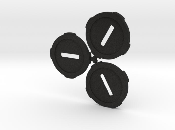 3Bases Chibizombies 3d printed