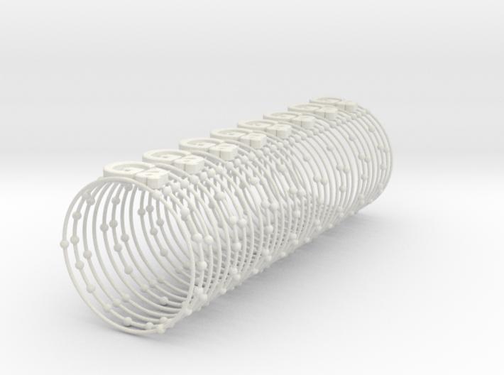 Gallium Napkin Ring 3d printed