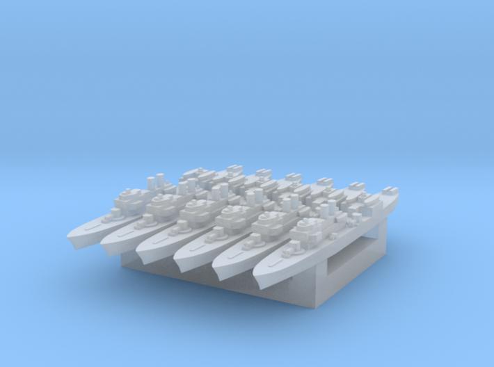 Marne 1:6000 x6 3d printed