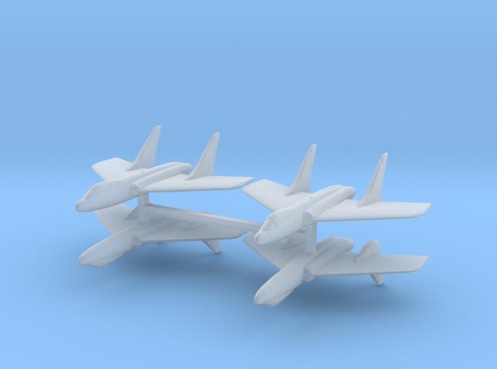 F7U Cutlass 1:600 x4 3d printed