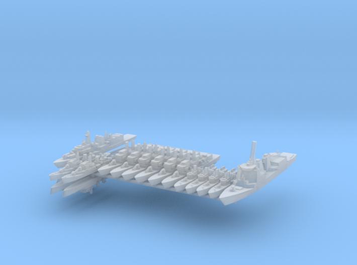TelzyFleet 2 1:2400 (17 Ships) 3d printed
