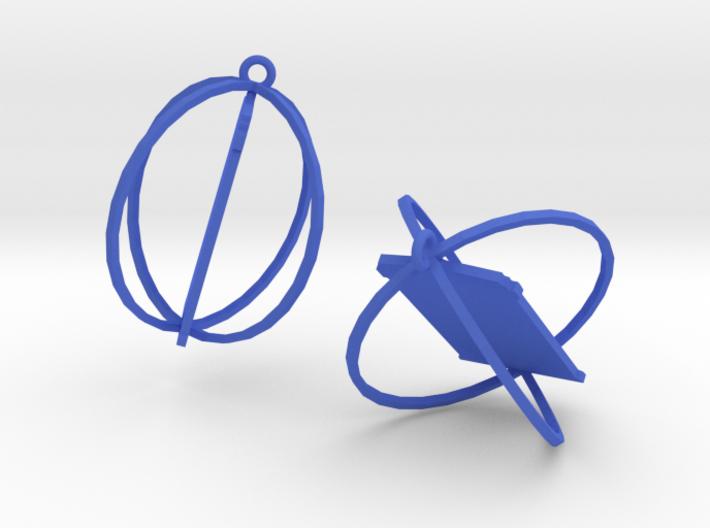 Tardis Earrings 3d printed