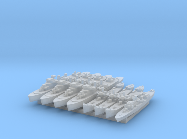 French Colonia Fleet 1:3000 (8 ships) 3d printed
