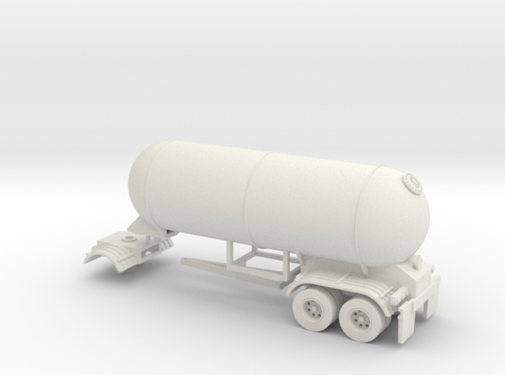 HO 1/87 LPG twin-axle Calf/Pup tanker, trailer 15 3d printed
