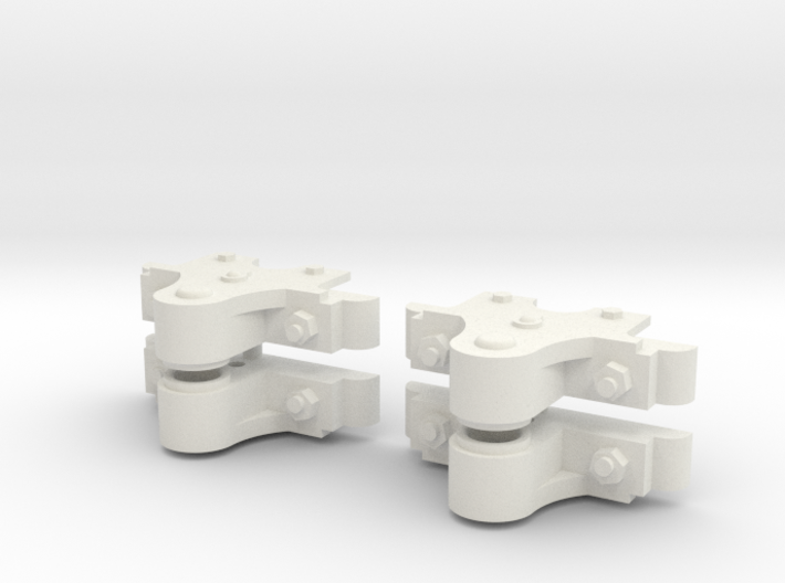 16mm scale Slate wagon axleboxes (4) 3d printed