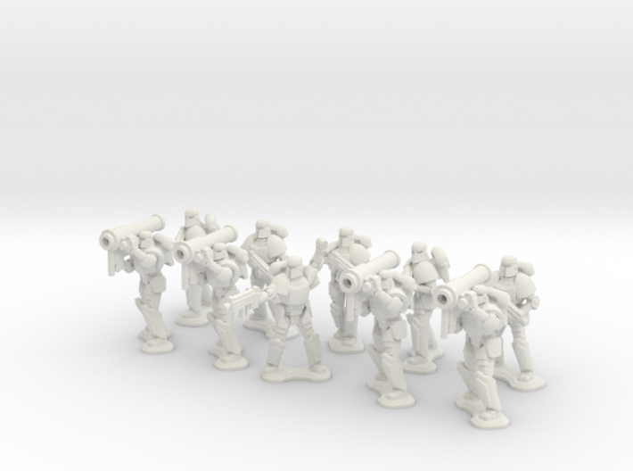 15mm Legionary Missile Support Squad 3d printed