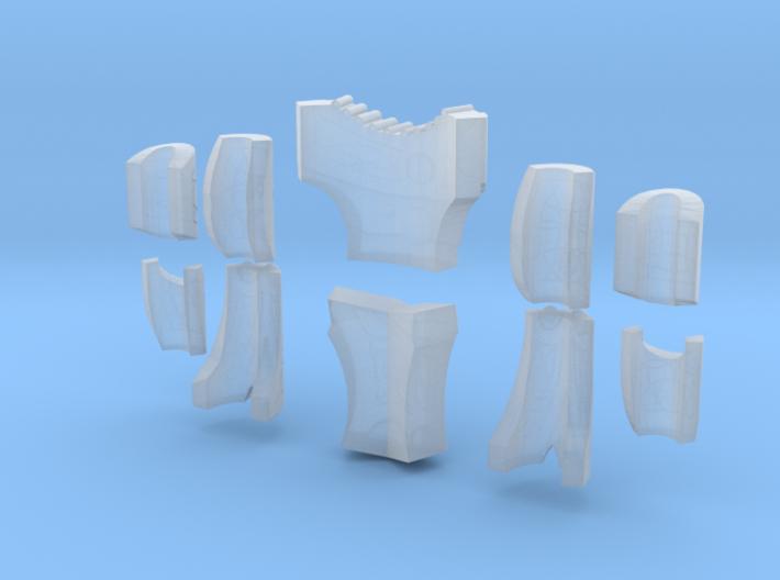 Techno Armor Plates 1 (x1) 3d printed