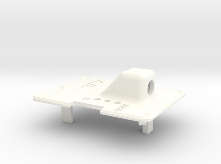 Backplate for Orange RX Transmitter Module 3d printed Shapeways render