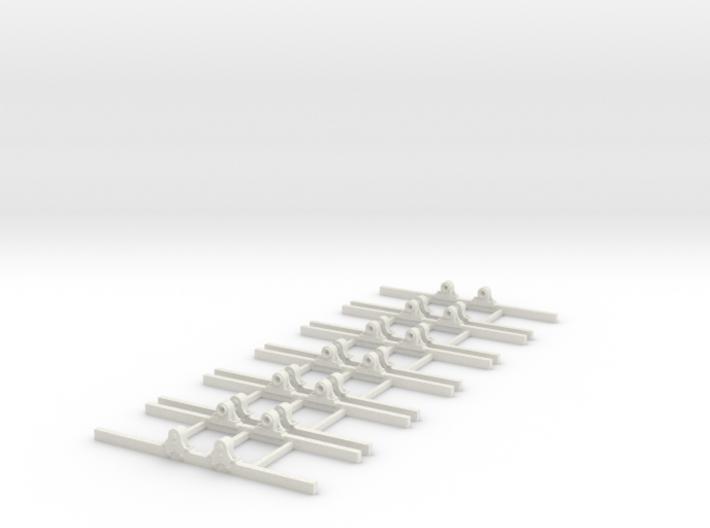 OO9 Underframe type b 2ft 8 wb x6 3d printed
