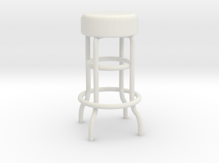 1:24 Metal Stool (Not Full Size) 3d printed