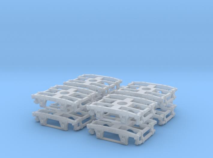 "T06p x8 N wood beam trucks, basic, 54""wb, pin moun 3d printed"