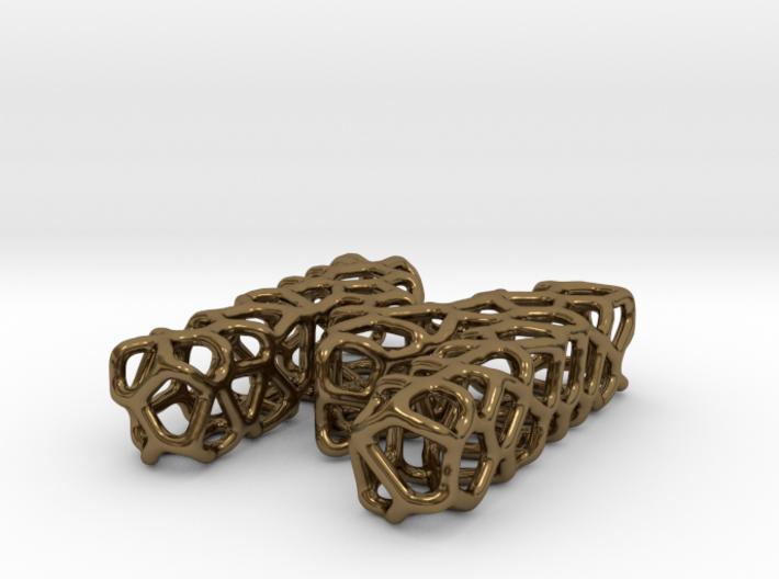Organic Letter M Pendant 3d printed