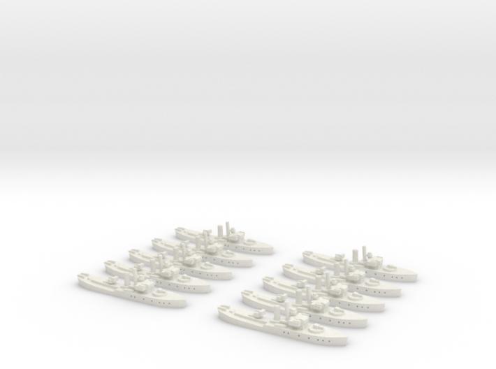 HMS Buttercup (Flower class) 1/1800 x10 3d printed