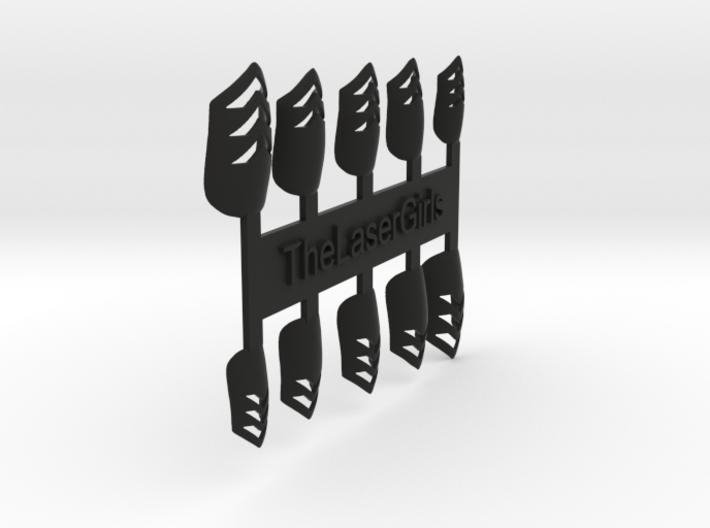 Chevron Nails (Size 1) 3d printed