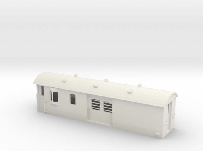 30ft Guards Van, New Zealand, (S Scale, 1:64) 3d printed