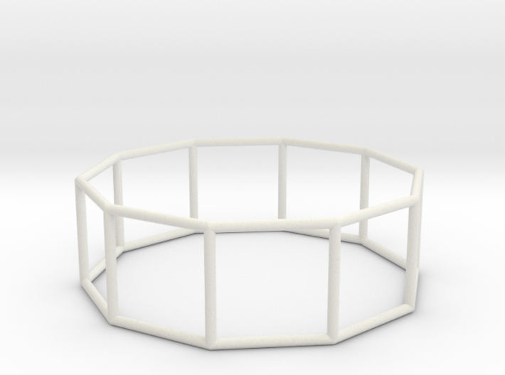 decagonal prism 70mm 3d printed