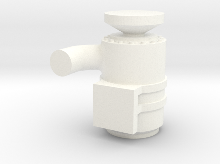 1/64th Scale Air Cleaner w elbow, passenger side 3d printed