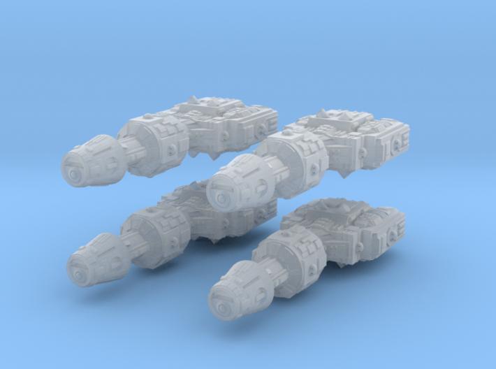 1/2256 Correllian Gunship 4X 3d printed