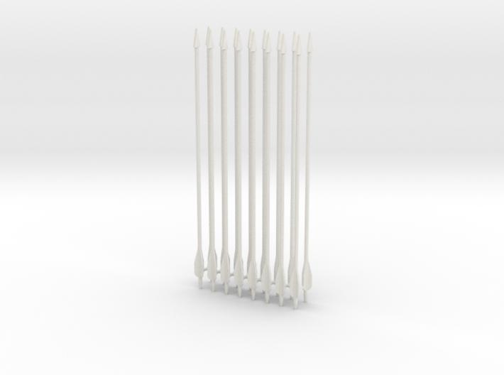 "1:6 SCALE ARROWS 5.25"" X16PCS revised 3d printed"