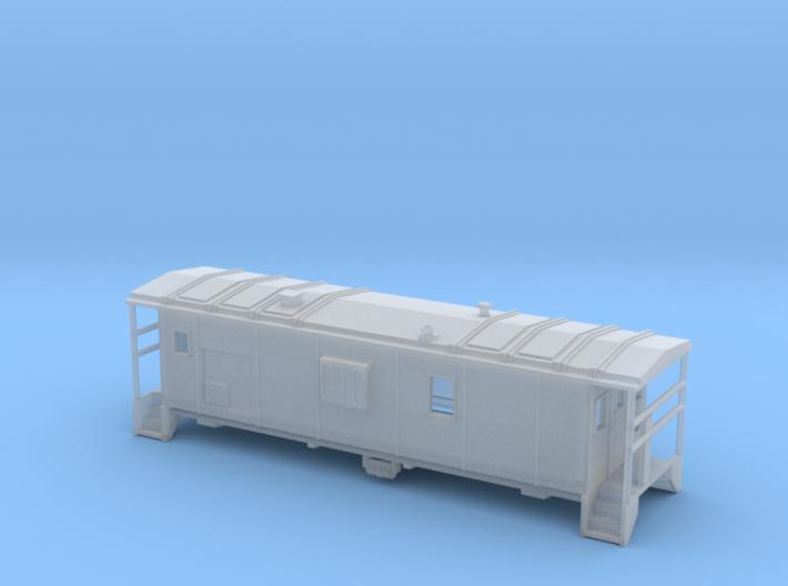 DMIR Minntac Caboose - Nscale 3d printed