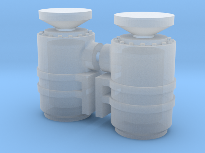 1/64th Scale Air Cleaner set 3d printed