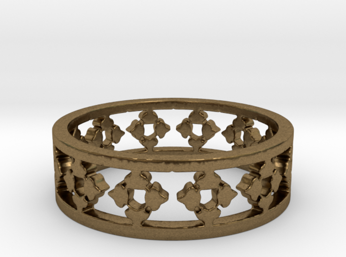 Endless Knight Ring Size 7.5 3d printed