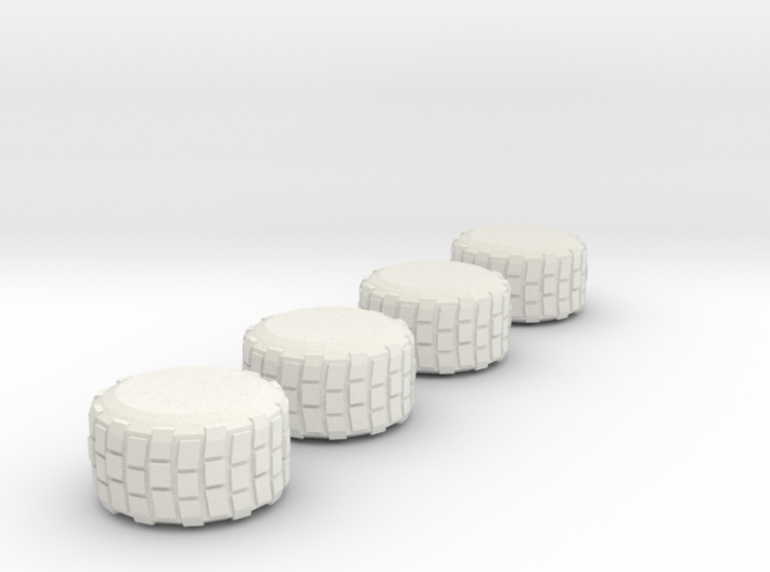 Military-Style Tires, 10mm Diameter 3d printed