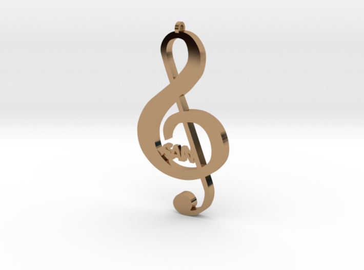 Treble Clef Music Symbol 3d printed