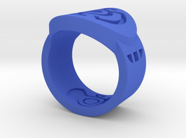 Blue Hope FF Ring Sz 7 3d printed
